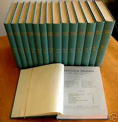 Historical Abstracts Periodical Quarterly, Boehm V.1-15