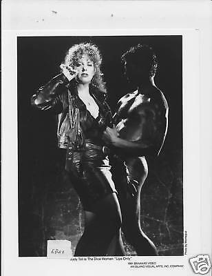 Judy Toll busty w/cig VINTAGE Photo barechested man