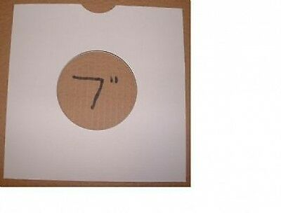 """25 x 7"""" / 45rpm WHITE CARD MASTERBAGS/COVERS/SLEEVES FREE P&P^"""