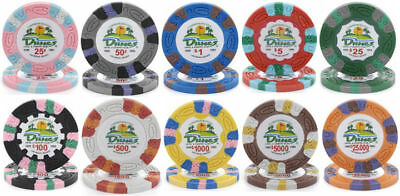 DUNES LAS VEGAS CASINO CHIP SAMPLE SET $.25 - $25,000