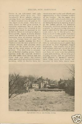 1910 Exeter New Hampshire vintage article