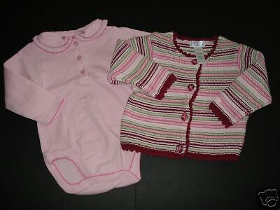TCP Childrens Place Pink Bodysuit Top Sweater 6-9 12 M