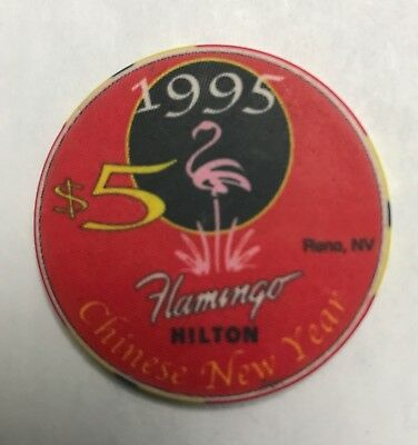 Flamingo Hilton Reno Nevada $5 Casino Chip Chinese New Year 1995