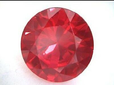 A pair of 5 mm Round Brilliant Cut Lab Created Ruby