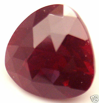 11 mm 5.7 cts Trilliant Checkerboard Lab Created Ruby