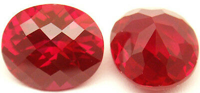 14x12.5 mm 10.2 cts Cushion Checkerboard created Ruby