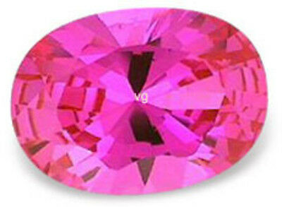 11x9 mm 5 cts oval cut Pink lab created Sapphire