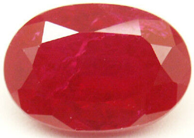 10x8 mm 3.5 cts oval cut  Diffusion lab created Ruby