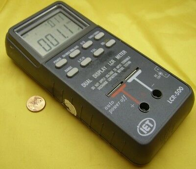 Iet Model Lcr-500 Dual Display Hand Held Lcr Meter