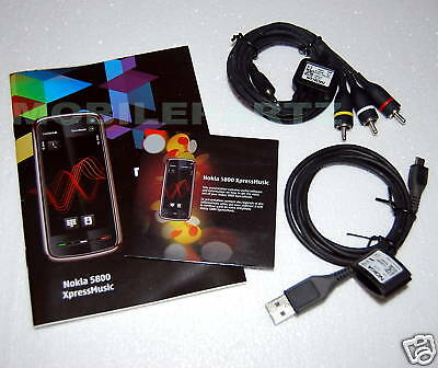 Nokia 5800 Xpress Music Manual Cd Tv Out & Data Cables