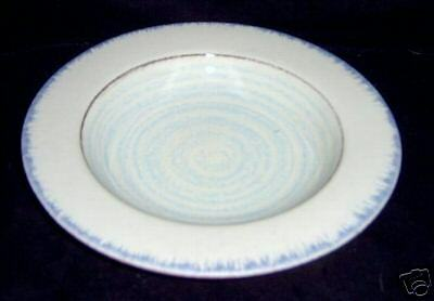 Terre Antiche Italy Rimmed Soup Bowl Blue Circles