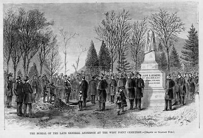 West Point Cemetery Burial Of The Late General Anderson Genealogy History