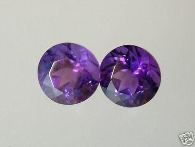 PAIRE  AMETHYSTES NATURELLES 5 mm COULEUR AAA