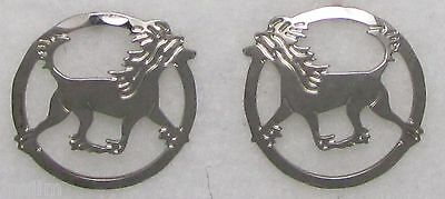 Chinese Crested Jewelry Silver Post Earrings by Touchstone