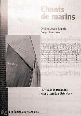Accordéon diatonique recueil tablature Chants de Marins