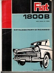 Fiat 1800B Illustrated Parts Catalogue 1969 #603.10.172