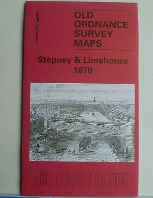 Old Ordnance Survey Maps London Stepney & Limehouse 1870 Godfrey Edition