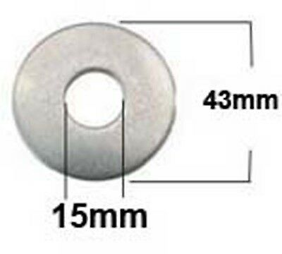 M14 x 43mm Stainless Steel Penny Washers (15mm x 43mm x 2.6mm) x6