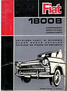 Fiat 1800B Illustrated Body Parts Book 1963 #110.449