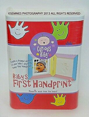 BABY'S FIRST HANDPRINT WITH PICTURE FRAME NEW  assembled in the U.S.A. Kit
