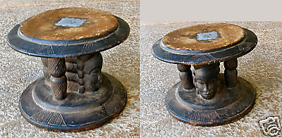 Monozygous stool in style of Anang masks from Nigeria