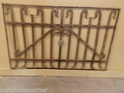 100 Year Old French Iron Panel W/Floral Detail