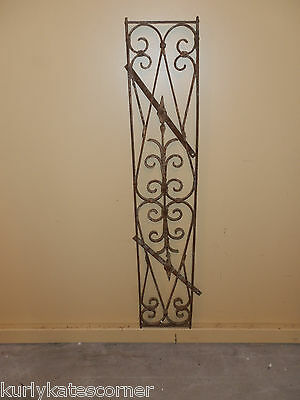Antique Victorian French Iron Garden Trellis W/hardware