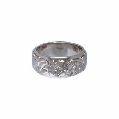 Hawaiian Jewelry Sterling Silver Double Band Ring