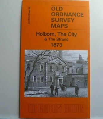 OLD ORDNANCE SURVEY DETAILED MAPS HOLBORN CITY & STRAND LONDON  1873 Sheet 62