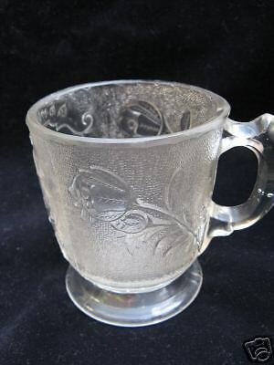 Antique EA Pattern Glass Rose In Snow Remembrance Mug
