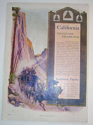 Exceptional Vintage Southern Pacific Railroad Glossy Ad