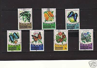 Grenadines , Full Set Of 7 To $2 'butterflies' 1975