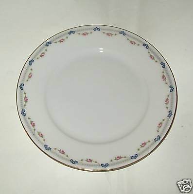 KPM Germany China~Pink&Blue Flower Garland~Bread&Butter
