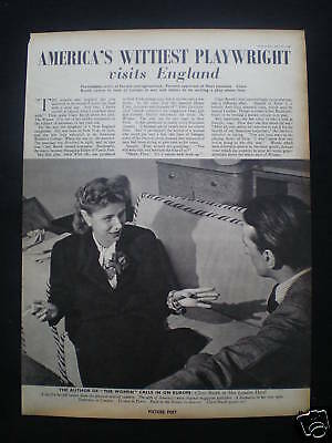 Article - Clare Boothe Luce / American Playwright 1940