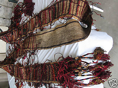 Antique hand embroidered woolen 14 ft long tent border heavy wool yurt