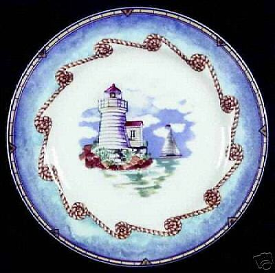Fitz & Floyd Omnibus Shore Lights Salad Plate A