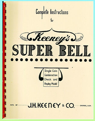 Keeney's Super Bell Console Slot Mach. Manual