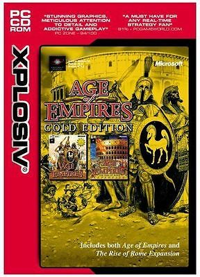 AGE OF EMPIRES Gold Edition Inc Rise of Rome  Brand New