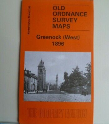 Old Ordnance Survey Detailed Map Scotland  Greenock West 1896 Sheet 2.05