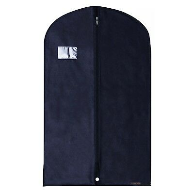 "Navy Breathable Suit Cover Garment Clothes Travel Protector Bags 40"" Hangerworld"