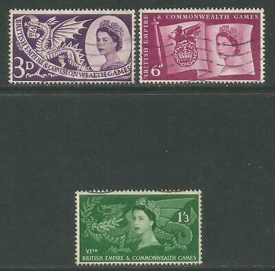 Great Britain 1958 Commonwealth Games(338-40) fine used