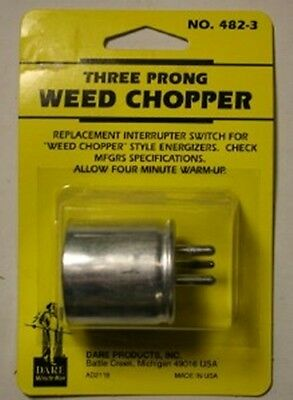 Dare THREE PRONG Electric Fence Fencer WEED CHOPPER