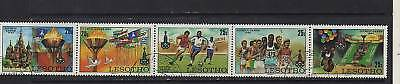 Lesotho Cto/nh Moscow Olympics 1980 Strip Of 5