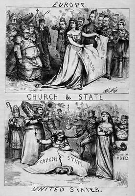 Thomas Nast Church And State, Public School Money Crown