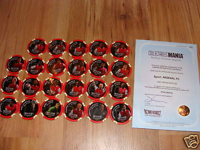 23 Limited Edition Arsenal Fc Poker Casino Chips Rare
