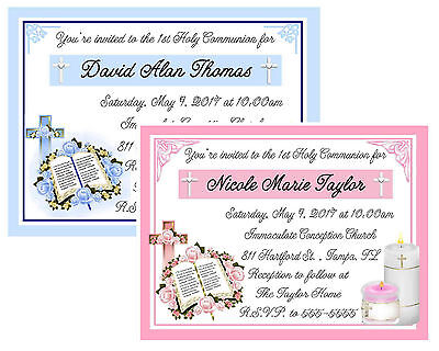 1St Communion Invitations & Envelopes Personalized