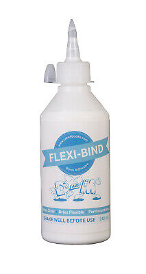 FLEXI-BIND BOOK ADHESIVE - glue for many types of book repair - 240ml