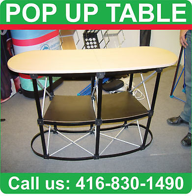 NEW Trade Show Pop Up COUNTER Stand PODIUM Booth TABLE