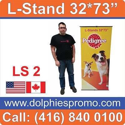 """5 UNITS - 32"""" WIDE L Banner Stands Trade Show Portable Displays (Hardware Only)"""