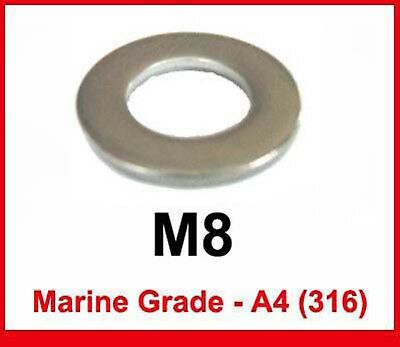 M8 Marine Grade A4 316 Stainless Washers x50
